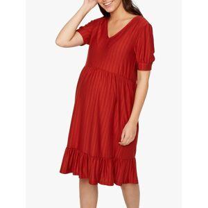 Mamalicious Kadia Maternity Dress, Orange  - Orange - Size: Large