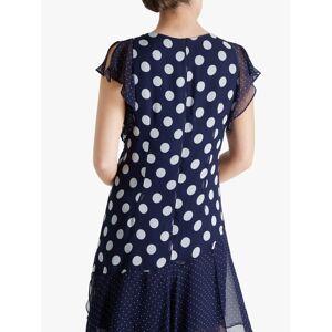 Fenn Wright Manson Petite Polka Dot Dress, Navy