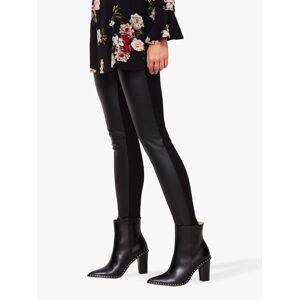 Sosandar Leather Look Front Panel Leggings, Black  - Black - Size: 18