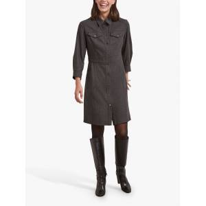 Gerard Darel Tamara Denim Shirt Mini Dress, Grey  - Grey - Size: 18
