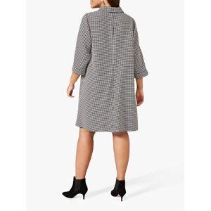 Studio 8 Joanne Spring Abstract Knee Length Dress, Black/White  - Black - Size: 20