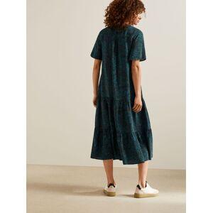 Modern Rarity Archive Plume Print Tiered Dress, Multi  - Multi - Size: 20