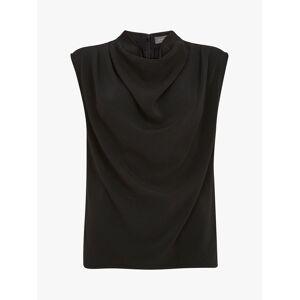 Mint Velvet Sleeveless Cowl Neck Top, Black  - Black - Size: 18