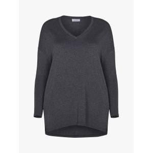 Live Unlimited Curve V-Neck Top  - Dark Grey - Size: 18