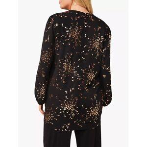 Studio 8 Carly Floral Foil Top, Black/Gold  - Multi - Size: 24