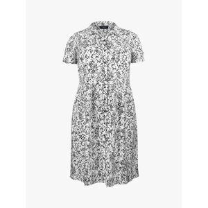 Live Unlimited Curve Mini Dash Print Shirt Dress, White/Black  - Multi - Size: 22