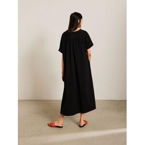 Kin Crew Neck Gathered Back Jersey Dress, Black  - Black - Size: Large