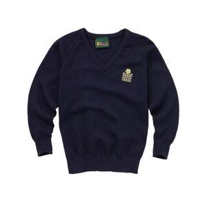 "Unbranded Emanuel School Boys' V-Neck Pullover, Navy  - Blue - Size: Chest 40"""