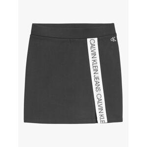 Calvin Klein Children's Punto Logo Tape Skirt, CK Black  - Black - Size: 14 years