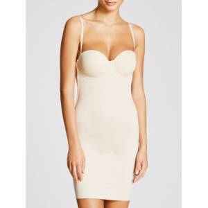 Maidenform Comfort Endlessly Smooth Firm Control Slip  - Latte - Size: 38C