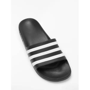 adidas Adilette Aqua Slides Slippers, Core Black/FTWR White