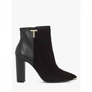 Ted Baker Inala Leather Suede Point Toe Ankle Boots, Black