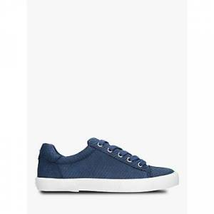 Carvela Light Lace Up Trainers, Navy