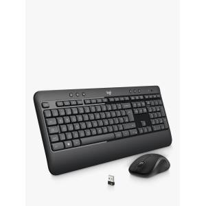 Logitech MK540 Wireless Keyboard and Mouse, Black