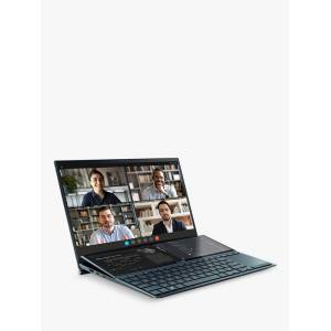 Asus ZenBook Duo UX482EG Laptop, Intel Core i7 Processor, 16GB RAM, 512GB SSD + 32GB Intel Optane Memory, 14 Full HD, Celestial Blue  - Blue