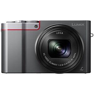 Panasonic Lumix DMC-TZ100EB Digital Camera, 4K Ultra HD, 20.1MP, 10x Optical Zoom, Wi-Fi, EVF, 3 LCD Touch Screen  - Silver