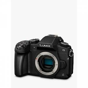 "Panasonic Lumix DMC-G80EB-K Compact System Camera, 4K Ultra HD, 16MP, Wi-Fi, OLED Live Viewfinder, 3"" LCD Vari-Angle Touch Screen, Body Only, Black"
