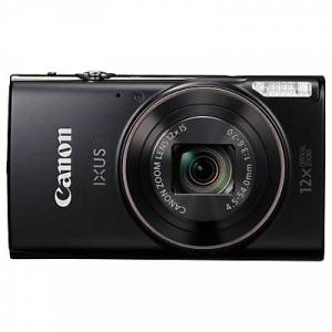 Canon IXUS 285 HS Digital Camera Kit, Full HD 1080p, 20.2MP, 12x Optical Zoom, 24x Zoom Plus, Wi-Fi, NFC, 3 LCD Screen With Leather Case & 16GB SD Card  - Black