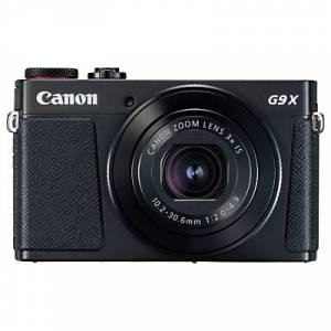 Canon PowerShot G9 X Mark II Digital Camera, 1080p, 20MP, 3x Optical Zoom, OIS, Bluetooth, NFC, Wi-Fi, 3 Touch Screen  - Black