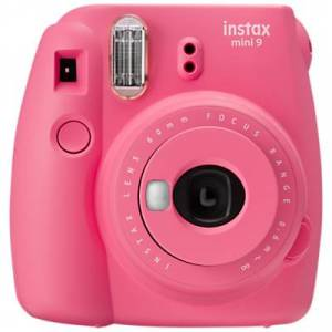 Fujifilm Instax Mini 9 Instant Camera with 10 Shots of Film, Built-In Flash & Hand Strap  - Flamingo Pink