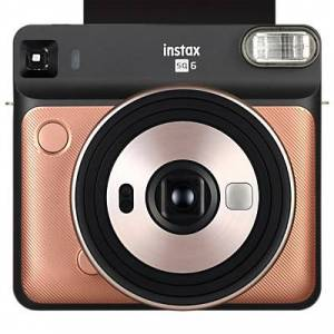 Fuji Instax SQUARE SQ6 Instant Camera with Selfie Mode, Built-In Flash & Shoulder Strap