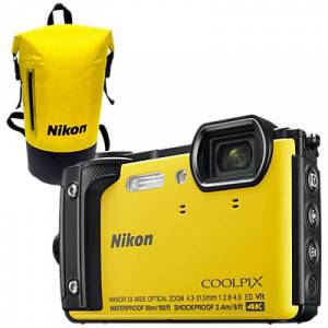Nikon COOLPIX W300 GPS Waterproof, Freezeproof, Shockproof, Dustproof Digital Camera, 16MP, 4K UHD, 5x Optical Zoom, Bluetooth, 3 LCD Screen