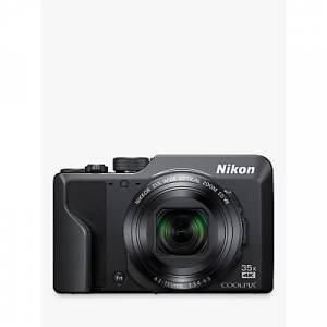 Nikon COOLPIX A1000 Digital Camera, 16MP, 4K Ultra HD, 35x Optical Zoom, Wi-Fi, Bluetooth, 3 Tiltable LCD Touch Screen