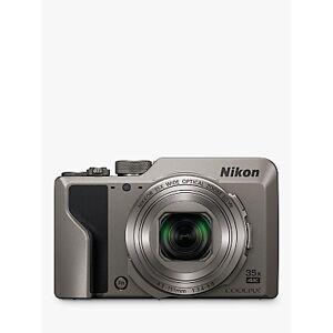 Nikon COOLPIX A1000 Digital Camera, 16MP, 4K Ultra HD, 35x Optical Zoom, Wi-Fi, Bluetooth, 3 Tiltable LCD Touch Screen  - Silver