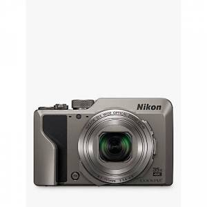 Nikon COOLPIX A1000 Digital Camera, 16MP, 4K Ultra HD, 35x Optical Zoom, Wi-Fi, Bluetooth, 3 Tiltable LCD Touch Screen  - Silver
