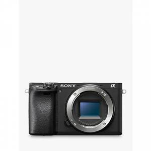 Sony A6400 Compact System Camera, 4K Ultra HD, 24.2MP, 4D Focus, Wi-Fi, Bluetooth, NFC, OLED EVF, 3 Tilting Touch Screen, Body Only, Black