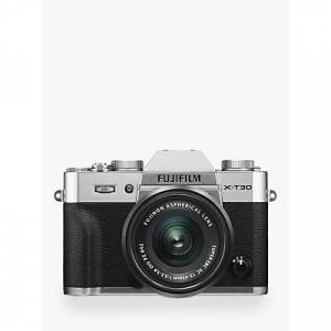 Fuji X-T30 Compact System Camera with XC 15-45mm OIS Lens, 4K Ultra HD, 26.1MP, Wi-Fi, OLED EVF, 3� LCD Touch Screen