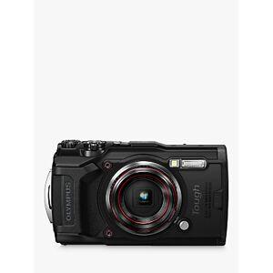 Olympus Tough TG-6 GPS Waterproof, Freezeproof, Shockproof, Dustproof Compact Digital Camera, 12MP, 4K UHD, 4x Optical Zoom, Wi-Fi, RAW Shooting, 3 LCD Screen  - Black