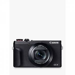 Canon PowerShot G5 X Mark II Digital Camera, 4K Ultra HD, 20.1 MP, 5x Optical Zoom, Wi-Fi, Bluetooth, EVF, 3 Tilting Touch Screen