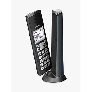 Panasonic KX-TGK220E Digital Cordless Telephone with 1.5 LCD Screen, Nuisance Call Blocker and Answering Machine, Single DECT  - Graphite Grey
