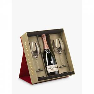 Bollinger Champagne Bollinger Rose with 2x Glasses, 75cl