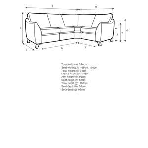 G Plan Vintage The Sixty Eight 5+ Seater Corner Sofa  - Sherbert Teal