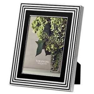 Vera Wang for Wedgwood With Love Photo Frame, Noir, Silver