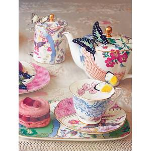 Wedgwood Butterfly Bloom Teapot, Pink, 500ml