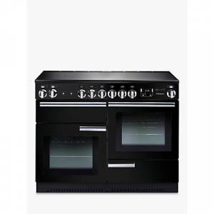 Rangemaster Professional + 110 Induction Hob Range Cooker  - Gloss Black