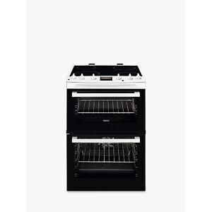 Zanussi ZCV66250WA Double Electric Cooker, A Energy Rating, Black/White