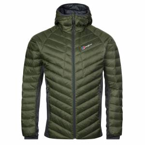Berghaus Tephra Stretch Hooded Mens Jacket, Green / L