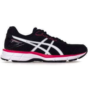 Asics Gel Galaxy 9 Womens Running Trainer, Black / Pink / UK 4