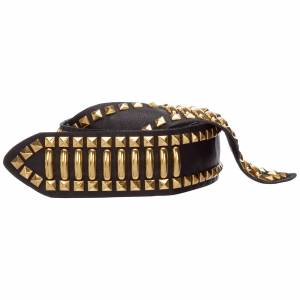 Alberta Ferretti Women's genuine leather belt  - Women - Black - Size: Small
