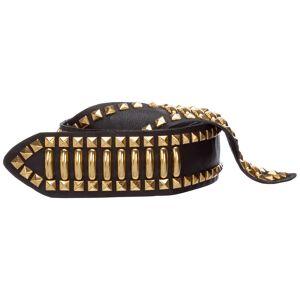 Alberta Ferretti Women's genuine leather belt  - Black - Size: Small