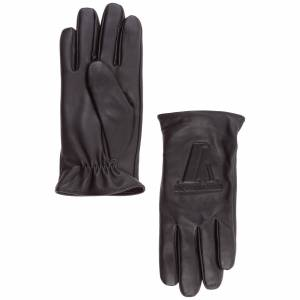 Emporio Armani Men's leather gloves  - Men - Black - Size: Medium