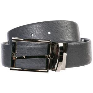 Emporio Armani Men's adjustable length reversible leather belt  - Men - Grey