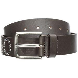 Emporio Armani Men's genuine leather belt  - Men - Grey - Size: 90