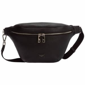 Dolce&Gabbana Men's leather belt bum bag hip pouch  - Black