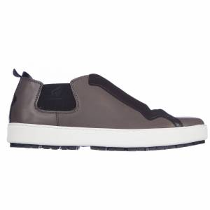 Hogan Men's shoes leather trainers sneakers capsule  - Men - Grey - Size: 40