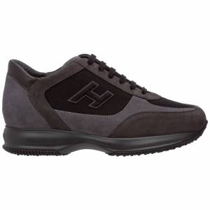 Hogan Men's shoes suede trainers sneakers interactive  - Grey - Size: 44